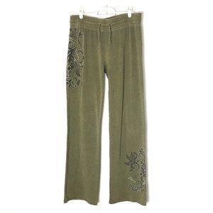 Vertigo Pants Green/Silver Lounge Mid-Rise 32x33 L